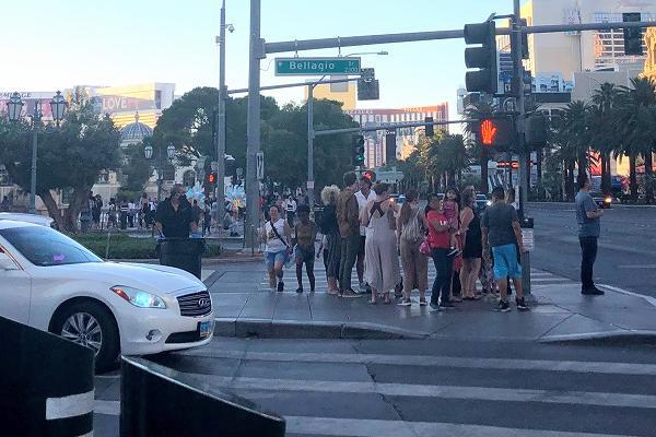 ベラージオホテル前の信号