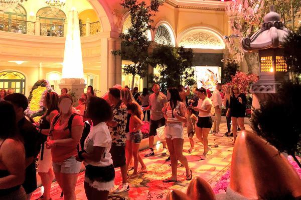 ベラージオホテル 植物園は混雑