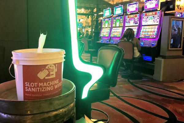 パリスホテル スロットマシン消毒シート
