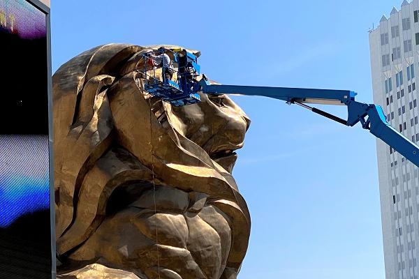 MGMグランドのライオン像
