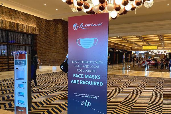 マスク着用を促すボード